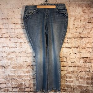 Cato Boot Cut Bling Jeans NWOT